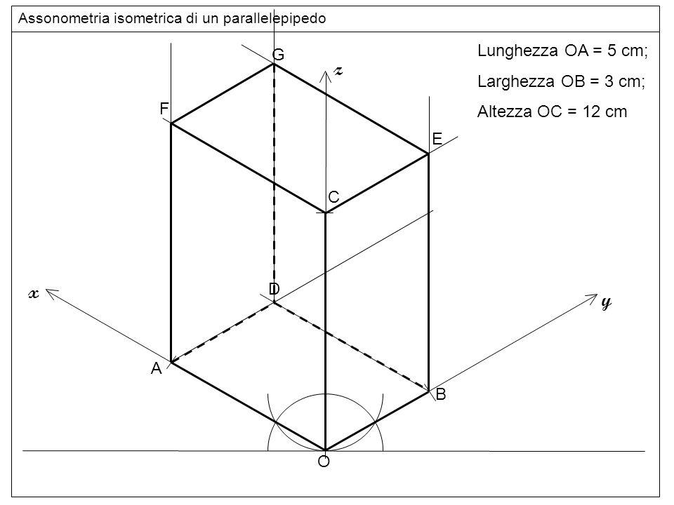 Assonometria isometrica di un parallelepipedo for Come disegnare il piano di casa