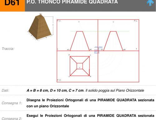 Raccolta di esercizi sulle proiezioni ortogonali